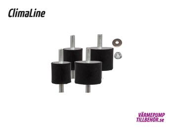 ClimaLine Pro, avstämd sats vibrationsdämpare max. 140 kg