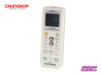Universal remote controller for air conditioners and heat pumps