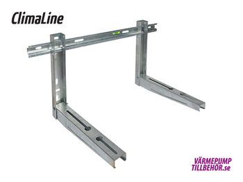 Varmgalvaniserad väggkonsol, max. 140 kg