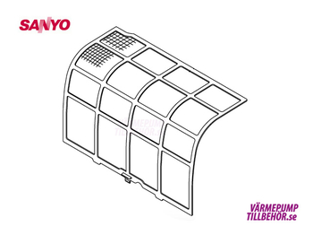 Filter (right hand side) for Sanyo Sanyo SAP-KRV96EHDSN and SAP-KRV126EHDSN