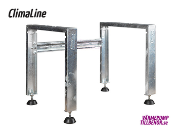 Galvanized support for air-to-air heat pumps, height 250-400 mm.