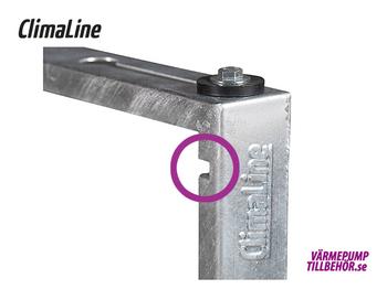 Galvaniserat markstativ för luft-luftvärmepump, höjd 250-400 mm.
