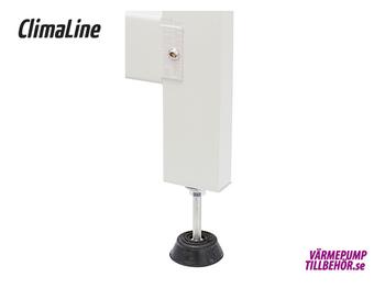 Lackat markstativ för värmepump, höjd 250-800 mm
