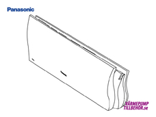 CWE22C1206XA - Frontlucka till Panasonic luftvärmepump