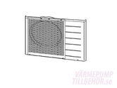 CWE06C1136 - Cabinet front plate for Panasonic heat pump and air conditioner