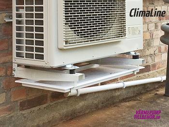 ClimaLine dräneringstråg med värmematta, komplett med termostat, värmekabel och isolerad slang